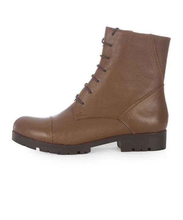 نیم بوت چرم زنانه عسلی چرم مشهدMashhad leather مدل J2267