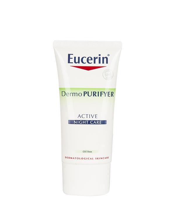 کرم مرطوب کننده شب اوسرین Eucerin مدل Dermo Purifyer Active حجم 50 میلی لیتر
