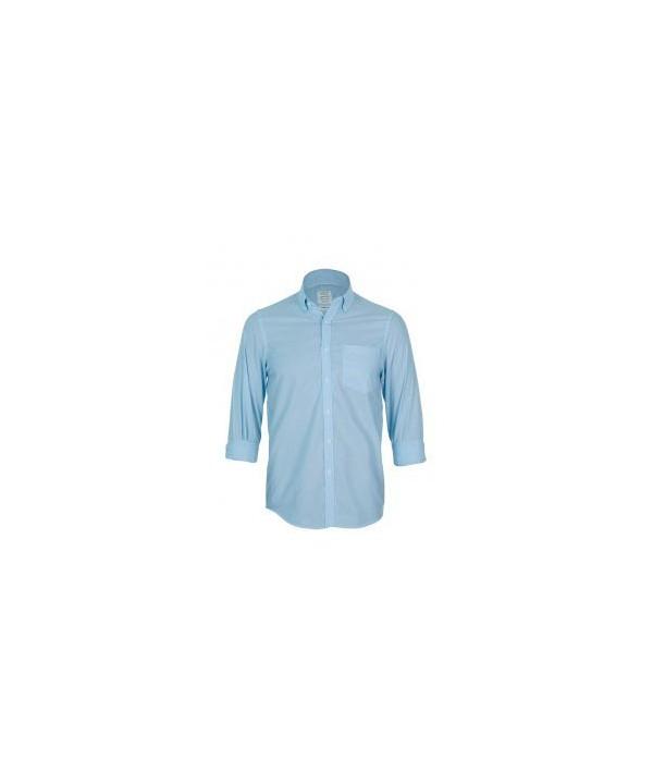 پیراهن مردانه آستین بلند آبی یخی