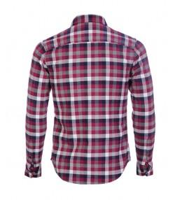 پیراهن طرح چهارخانه مردانه بنفش