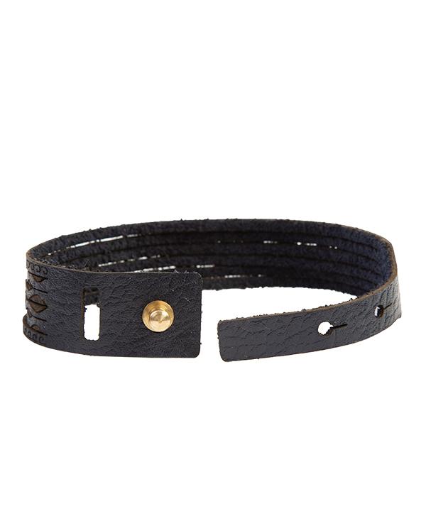 دستبند چرم طبیعی دایس Dice کد 001