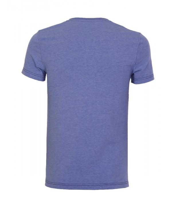 تیشرت مردانه بنفش با جیب تکه دوزی