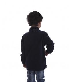 پیراهن مخمل کبریتی پسرانه جین وست