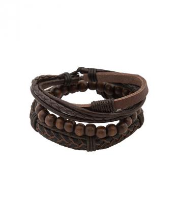 دستبند چرم و مهره جوتی جینز Jootijeans
