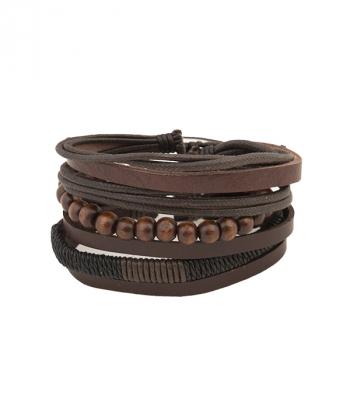 دستبند مردانه با مهره چوبی جوتی جینز Jootijeans
