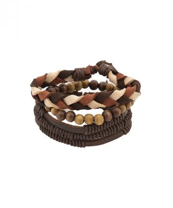 دستبند مردانه بافت چرمی جوتی جینز Jootijeans