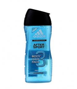 ژل شستشوی بدن، مو و صورت مردانه آدیداس Adidas مدل After sport حجم 250 میلی لیتر