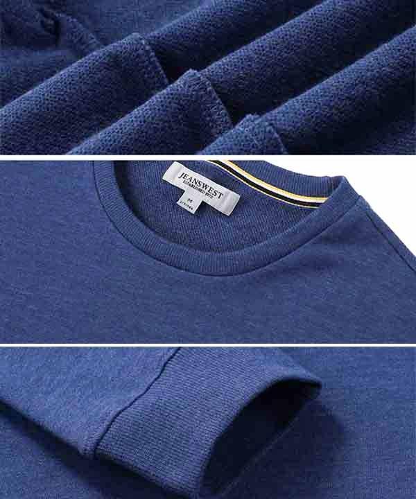 تیشرت آستین بلند مردانه آبی