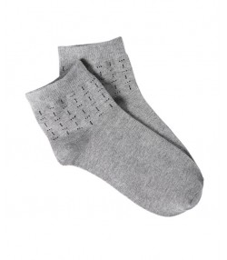 جوراب مردانه طوسی روشن