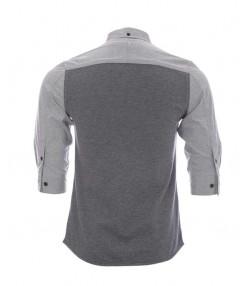 پیراهن آستین سه ربع مردانه طوسی