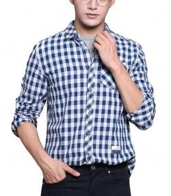 پیراهن چهارخانه مردانه جین وست