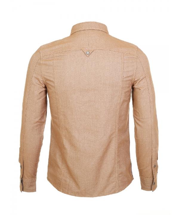 پیراهن مردانه آستین بلند خردلی