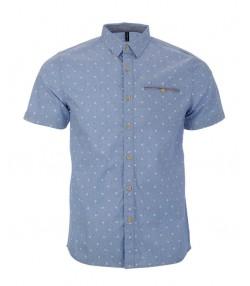 پیراهن خالدار مردانه آبی