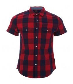 پیراهن چهارخانه قرمز