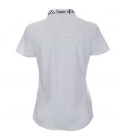 شومیز آستین کوتاه سفید
