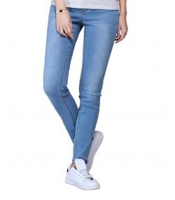 شلوار جین زنانه آبی روشن جین وست