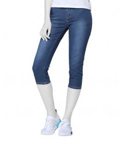 شلوارک جین زنانه آبی تیره جین وست