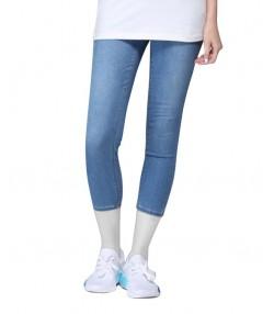 شلوار جین کوتاه زنانه آبی جین وست