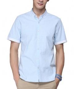 پیراهن مردانه، چهارخانه آبی