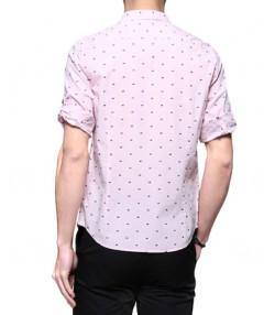 پیراهن مردانه  آستین سه ربع صورتی