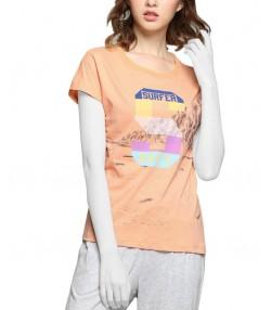 تیشرت زنانه نارنجی