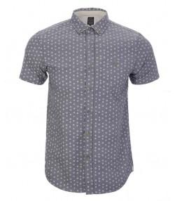 پیراهن مردانه مدل آستین کوتاه طوسی
