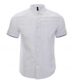 پیراهن مردانه سفید با طرح راه راه