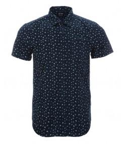 پیراهن مردانه مدل آستین کوتاه سرمه ای