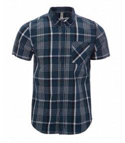 پیراهن چهارخانه سبز آبی