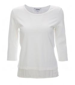 تیشرت آستین سه ربع زنانه سفید