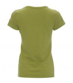 تیشرت یقه هفت زنانه سبز زیتونی روشن