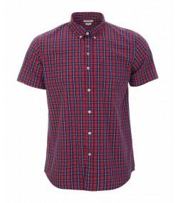 پیراهن چهارخانه مردانه قرمز