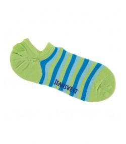 جوراب بدون ساق راه راه بچه گانه سبز