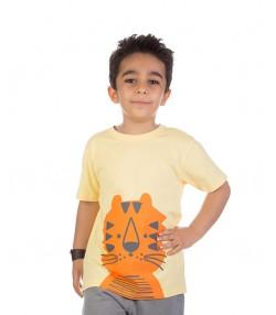 تیشرت کارتونی بچه گانه زرد