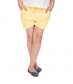 شلوارک دخترانه زرد جین وست