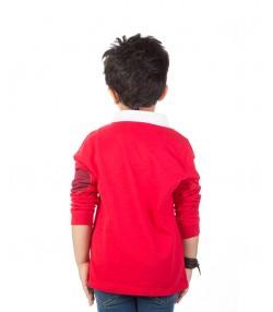 تیشرت آستین بلند پسرانه قرمز
