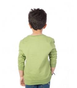 تیشرت پسرانه سبز جین وست