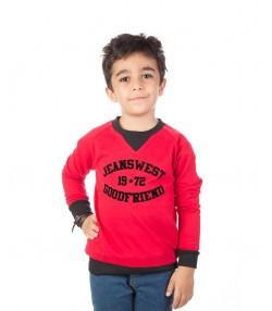 تی شرت تریکو قرمز پسرانه