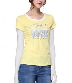 تی شرت زنانه زرد
