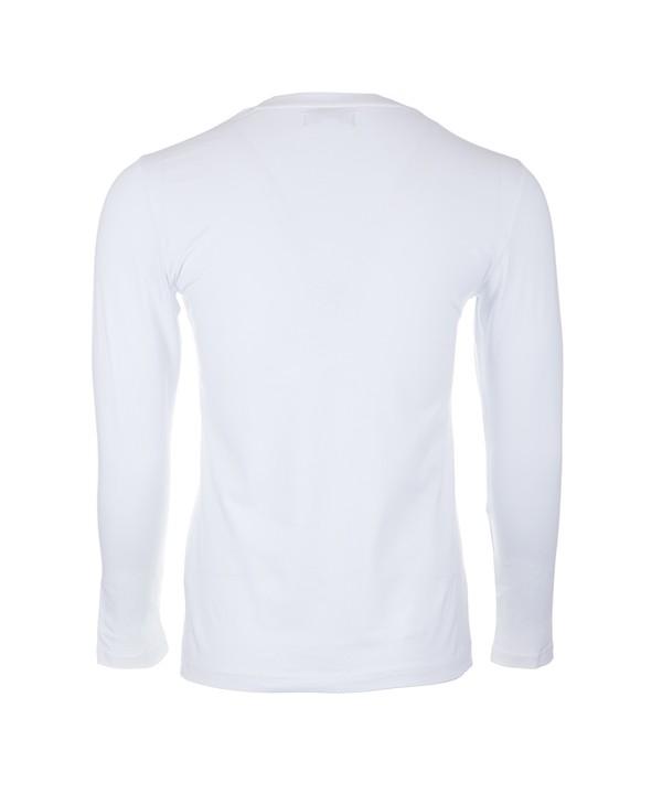 تی شرت آستین بلند سفید مردانه