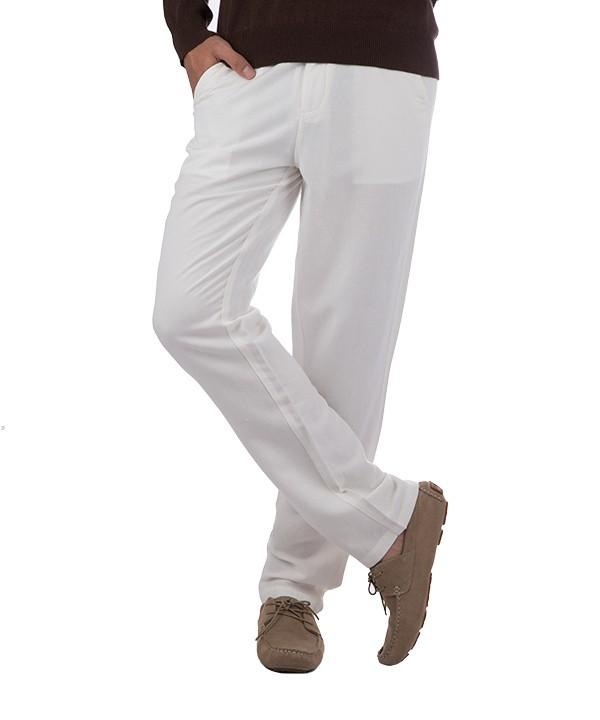 شلوار لینن مردانه سفید