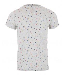 تی شرت خالدار مردانه طوسی