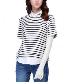 تی شرت یقه دار زنانه جین وست