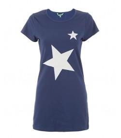 تونیک زنانه آبی تیره جوتی جینز طرح ستاره