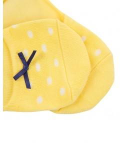 جوراب دخترانه زرد جین وست