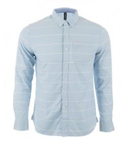 پیراهن آستین بلند مردانه آبی جین وست