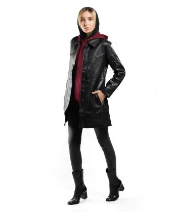 بارانی چرم زنانه جوتی جینز JootiJeans کد 94722608