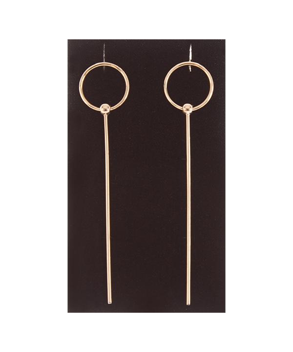 گوشواره طلا 18 عیار برند Freja مدل خط و دایره  