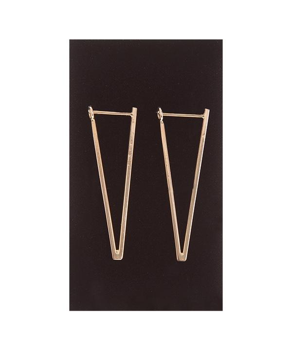 گوشواره طلا 18 عیار برند Freja مدل مثلث  