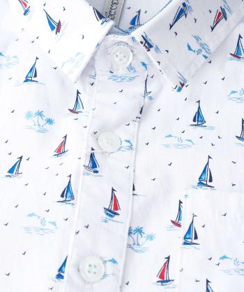 پیراهن طرح دار پسرانه جوتی جینز JootiJeans کد 02033923